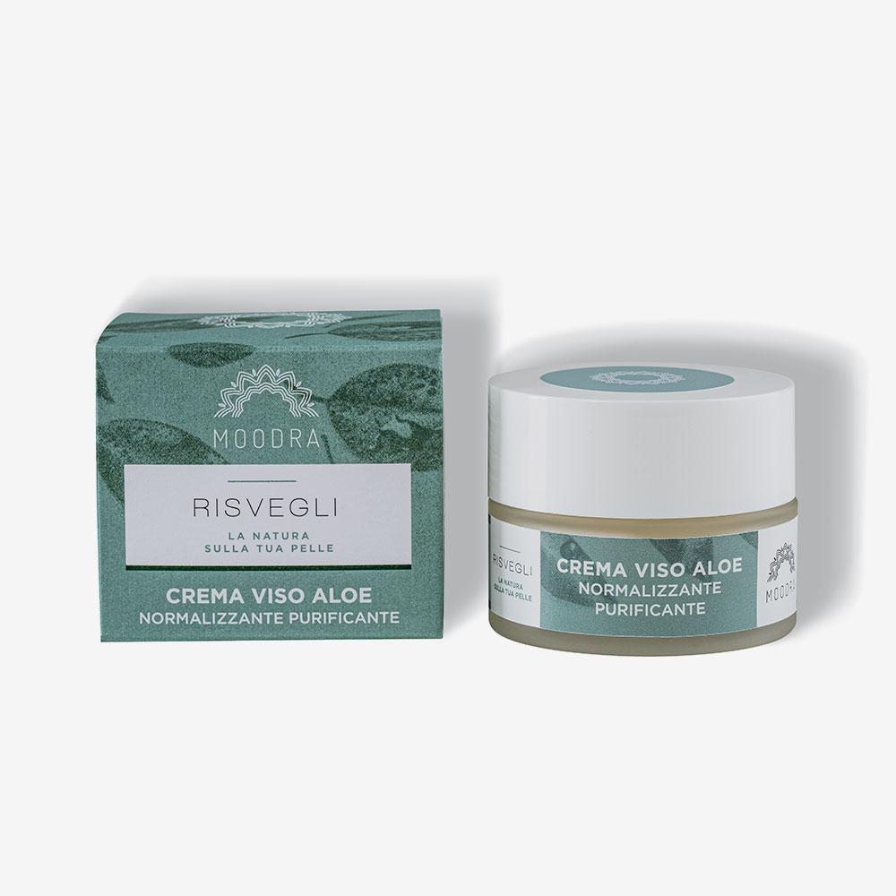 Crema viso aloe – normalizzante – purificante